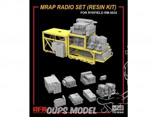 Rye Field Model maquette militaire 1002 Set Radio MRAP résine 1/35