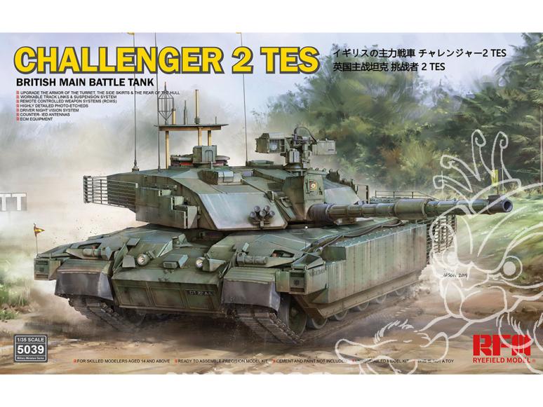 Rye Field Model maquette militaire 5039 Challenger 2 TES Char de combat principal Britannique 1/35