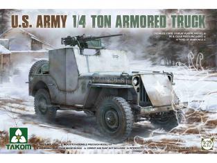 Takom maquette militaire 2131 U.S. Army 1/4 Ton Jeep blindée 1/35