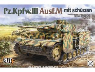 Takom maquette militaire 8002 Pz.Kpfw.III Ausf.M mit Schürzen 1/35