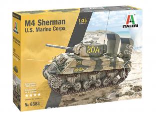 Italeri maquette militaire 6583 M4 SHERMAN U.S. MARINE CORPS 1/35