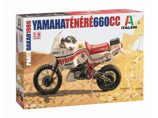 Italeri maquette moto 4642 YAMAHA Ténéré 660cc Paris Dakar 1986 1/9