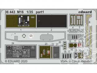Eduard photodecoupe militaire 36443 Amélioration M16 AFV Club 1/35