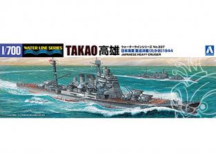 Aoshima maquette bateau 45367 Takao 1944 Croiseur lourd Japonais Water Line Series 1/700