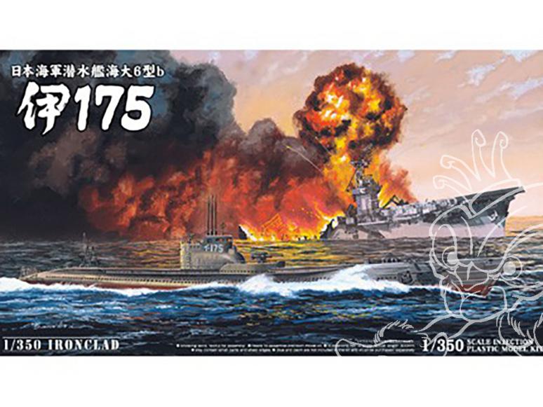 Aoshima maquette bateau 10655 Sous-marin I-175 1/350