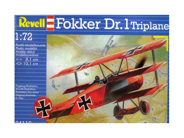 revell maquette avion 4116 fokker dr.1 1/72