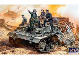 Master Box maquette militaire 35208 Équipage allemand StuG III. WWII Leur position est derrière cette forêt! 1/35