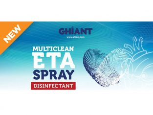 Ghiant 200076 Multiclean ETA Spray Nettoyant désinfectant en bombe 400ml