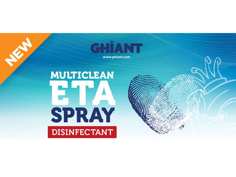 Ghiant 200076 Multiclean ETA Spray Nettoyant désinfectant en bombe 400ml