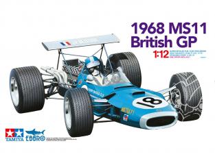 Ebbro maquette voiture 13001 Matra MS11 1968 Gp de grande Bretagne 1/12