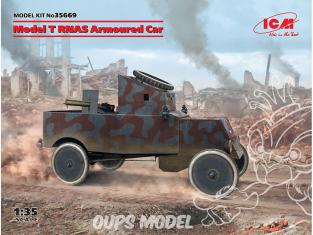 Icm maquette militaire 35669 Véhicule blindé modèle T RNAS 1/35