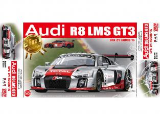 NuNu maquette voiture de Piste PN24004 Audi R8 LMS GT3 24H SPA 1/24