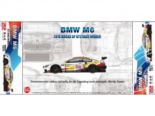 NuNu maquette voiture de Piste PN24008 BMW M6 GT3 2018 Macau GP Winner 1/24
