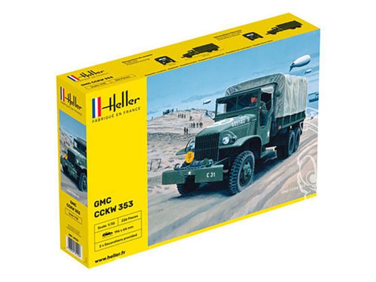 Heller maquette militaire 81121 GMC CCKW 353 1/35