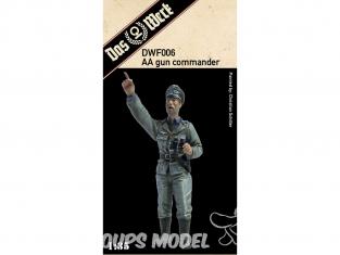 DAS WERK maquette militaire DWF006 Figurine AA Gun Commandant (Anti-Aircraft Officer / Flakoffizier / commandant) 1/35
