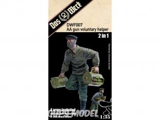 DAS WERK maquette militaire DWF007 Figurine Aide volontaire aux AA (porteur de munitions HiWi bénévole auxiliaire) 1/35
