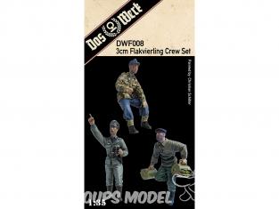 DAS WERK maquette militaire DWF008 Figurines Ensemble d'équipage Flakvierling de 3 cm 1/35