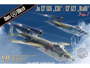 "DAS WERK maquette avion DW32001 Ju EF-126 ""Elli"" / EF-127 ""Walli"" (3 in 1) 1/32"