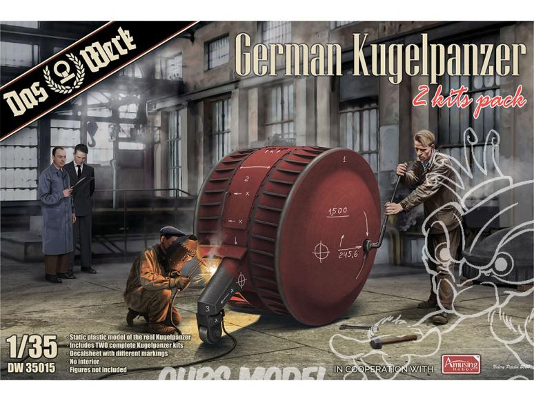 DAS WERK maquette militaire DW35015 German Kugelpanzer (2 Kits Pack) 1/35