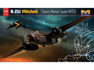 "HK Models maquette avion 01E024 B-25J Mitchell ""Glass Nose"" over MTO 1/32"
