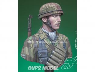 Alpine figurine B004 Buste d'un 6. Fallschirmjäger Regiment 1/16