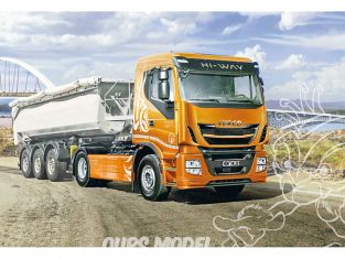 Italeri maquette camion 3928 IVECO HI-WAY 480 E5 LOW ROOF 1/24