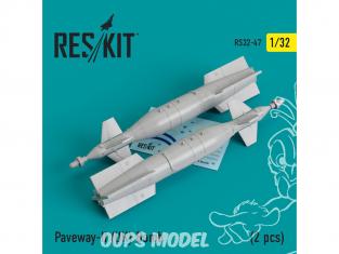 ResKit kit d'amelioration Avion RS32-0047 Paveway-II (UK) Bombe (2 pièces) 1/32