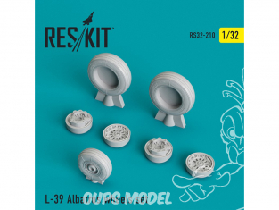 ResKit kit d'amelioration Avion RS32-0210 Ensemble de roues resine L-39 Albatros 1/32