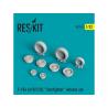 """ResKit kit d'amelioration Avion RS32-0008 Ensemble de roues resine F-104 (A/B/C/D) """"Starfighter"""" 1/32"""