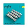 ResKit kit d'amelioration Avion RS32-0142 RBK-250-275 AO-1 Cluster bombes (4 pièces) 1/32