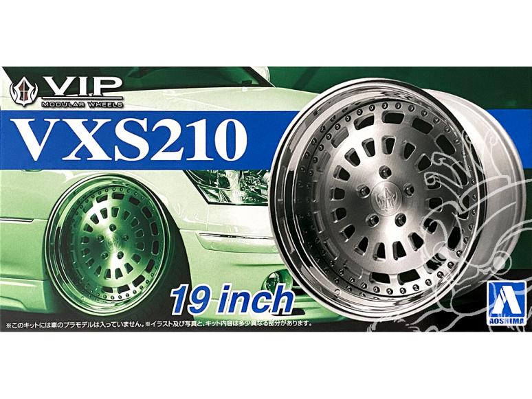 """Aoshima maquette voiture 52471 Jantes VIP VXS210 19"""" et pneus 1/24"""