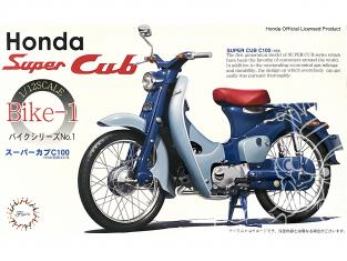 Fujimi maquette moto 141244 Honda Super Cub C100 1958 1/12