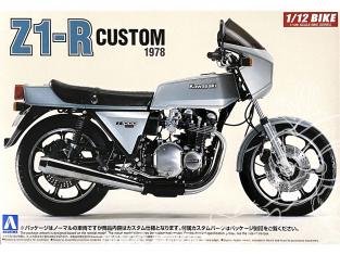 Aoshima maquette moto 53997 Kawasaki Z1-R Custom 1978 1/12