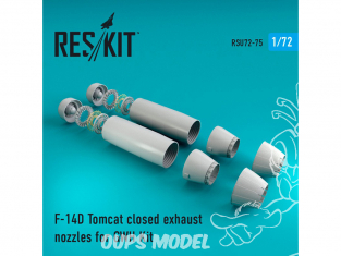 ResKit kit d'amelioration Avion RSU72-0075 Tuyère pour F-14D Tomcat fermé kit GWH 1/72
