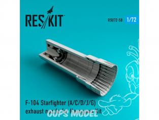 ResKit kit d'amelioration Avion RSU72-0058 Tuyère pour F-104 Starfighter (A / C / D / J / G) kit Hasegawa 1/72