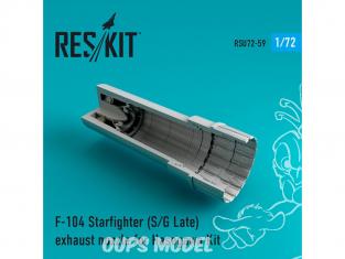 ResKit kit d'amelioration Avion RSU72-0059 Tuyère pour F-104 Starfighter (S/G Late) kit Hasegawa 1/72