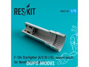 ResKit kit d'amelioration Avion RSU72-0060 Tuyère pour F-104 Starfighter (A/C/D/J/G) kit Revell et Revell U.S 1/72