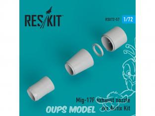 ResKit kit d'amelioration Avion RSU72-0057 Tuyère pour MiG-17F kit Airfix 1/72