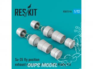 ResKit kit d'amelioration Avion RSU72-0056 Tuyère pour Su-35 position de vol kit Great Wall Hobby 1/72