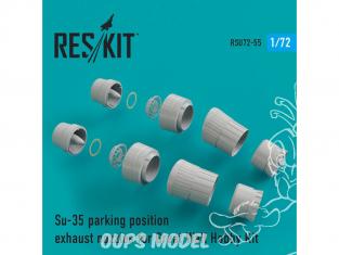 ResKit kit d'amelioration Avion RSU72-0055 Tuyère pour Su-35 parking position kit Great Wall Hobby 1/72