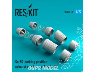 ResKit kit d'amelioration Avion RSU72-0053 Tuyère pour Su-57 position parking kit Zvezda 1/72
