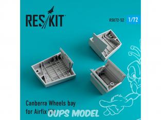ResKit kit d'amelioration Avion RSU72-0052 Canberra Baie de roues kit Airfix 1/72