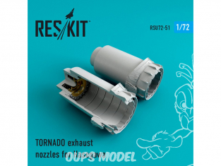 ResKit kit d'amelioration Avion RSU72-0051 Tuyère pour TORNADO pour kit Hasegawa 1/72