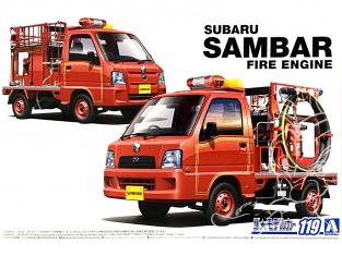 Aoshima maquette voiture 57940 Subaru TT2 Sambar Pompier 2008 - 2011 1/24