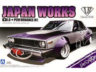 Aoshima maquette voiture 09802 LB Works Japan Works Nissan Skyline 4Dr - Liberty Walk 1/24