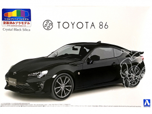 Aoshima maquette voiture 56486 Toyota GT86 2016 Crystal Black Silica 1/24