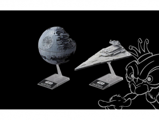 Revell maquette Star Wars 01207 BANDAI Death Star II et Star destoyer 1/72