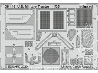 Eduard photodecoupe militaire 36446 Amélioration Tracteur militaire U.S. Airfix 1/35