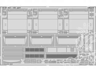 Eduard photodecoupe militaire 36447 Amélioration KV-1 Tamiya 1/35