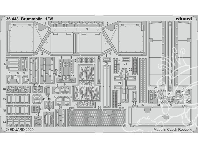 Eduard photodecoupe militaire 36448 Amélioration Brummbär Academy 1/35